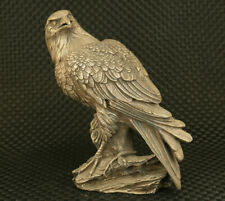 Rare Big chinese old copper hand carved eagle statue collectable home decoration