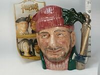 Royal Doulton LUMBERJACK D6610 Large size character jug pitcher EXCELLENT!! ..7""