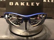New Oakley Flak Jacket XLJ Metallic Blue Frame W/  Black Iridium Lens