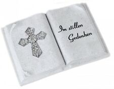 Grave Decoration Book with Sadness Saying in Pacific Commemorate Cross 9 3/8in