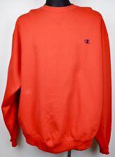 CHAMPION Jumper Men's 2XL Stitched Logo Red Sweatshirt Crew Neck Cotton vtg