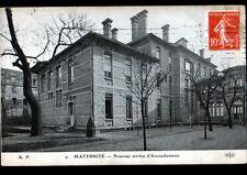 PARIS Hopital / MATERNITE Service d'ACCOUCHEMENT , Façade animée en 1911