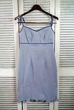 HAROLDS Sun Dress Size 4 Checkered Blue And White Spaghetti Strap Pin Up