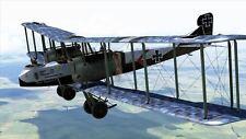Gotha G.V German Air Service Heavy Bomber Aircraft Mahogany Wood Model Large New