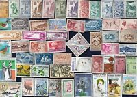 100 ALL DIFFERENT FRENCH COLONIES C&P  STAMPS