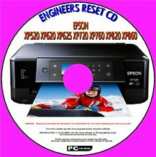 EPSON XP520 XP620 XP720 XP760 XP860 PRINTER WASTE INK SATURATED FULL RESET CD