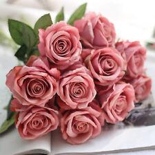 Artificial Fake Roses Silk Flower Wedding Home Bridal Bouquet Home Decor Party