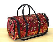 Duffle Sport Gym Bag Travel Bags Red Multi Floral Mandala Unisex Indian Handbags