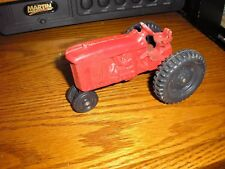 "RARE Vintage 5"" long Cast Iron Die Cast Narrow Front Wheels Farm Tractor"