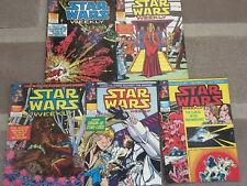 5 STAR WARS WEEKLY COMICS