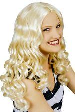 Perücke Engel blond lang Locken Langhaarperücke mit Pony gekreppt 123504313