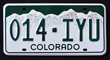 "COLORADO "" MOUNTAINS - 014 IYU "" MINT CO Graphic License Plate"
