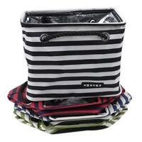 Simple Navy Sailor Stripe Waterproof Wash Bag Large Bag Travel Tote Organizer Q