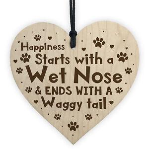 Handmade Dog Lover Gifts Wooden Heart Dog Sign Dog Gift Pet Gift Hanging Plaque