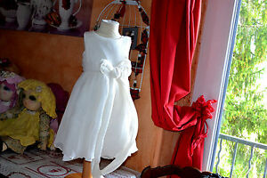 robe tartine et chocolat doublee 2 ans toute en* soie *ceremonie superbe