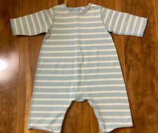 Petite Bateau Infant Boys Baby Blue White Striped One Piece Romper Size 3 Months