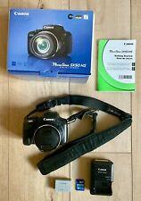 Canon PowerShot SX50 HS 12.1MP Digital Camera, 2 battery packs, 2 memory cards