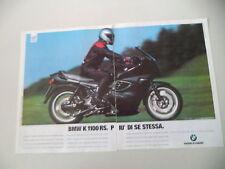advertising Pubblicità 1996 MOTO BMW K 1100 RS