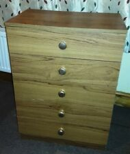 Classic Wooden Draw Chest with  x5 Draws