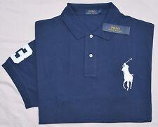 New 2XLT 2XL TALL POLO RALPH LAUREN Men's Big Pony shirt top Navy blue solid 2XT