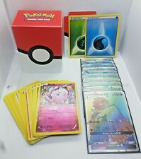 POKEMON CARDS Water/Grass - 10GX Holo's + 30 Card Pack (Comes with deck box)