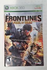 Xbox 360 Frontlines Fuel of War Instruction Booklet Insert Only Microsoft
