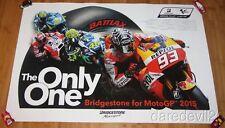 2015 Bridgestone Motorsport MotoGp Promo Poster Marc Marquez Valentino Rossi