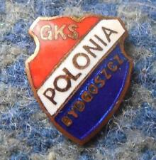 POLONIA BYDGOSZCZ ( GKS) SPEEDWAY FOOTBALL SOCCER 1970's SMALLER PIN BADGE BADGE