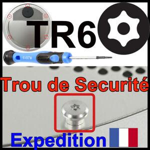 Tournevis Torx T6 TR6 de securité T6H idéal démontage Vis Mac Mini Apple embout