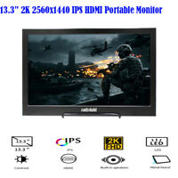 13.3 inch IPS 2K 2560X1440 HDMI Ultra Gaming Monitor Portable Monitor for PC PS4