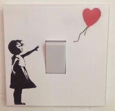 Banksy Style Girl with a balloon Light Switch Graffiti wall art sticker