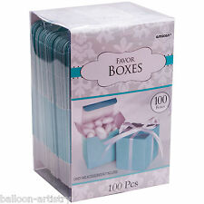 100 Classic ROBIN EGG BLUE Wedding Party Gift Favour Bags Cubes Boxes Mega Pack