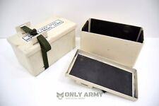 Military Issue Battery Storage Box Foam Padded With Strap NATO Army Strong Metal