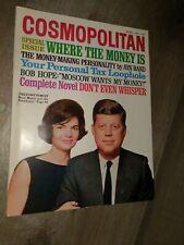 RARE Cosmopolitan April 1963 JFK JACKIE Cover KENNEDY / AYN RAND