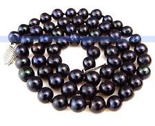 "17"" Genuine Freshwater Black Pearl Necklace | FSUK"