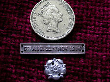 Replica Copy 1914 Bar 'Mons Bar' and Rosette Full size aged
