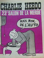 CHARLIE HEBDO No 99 OCTOBRE 1972 WOLINSKI  23éme SALON DE LA ... DE L AUTO