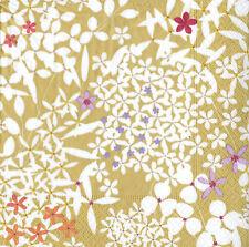 Marimekko kurjenpolvi Amarillo Floral Luxury Servilletas las servilletas de papel Nuevo 20 Pack