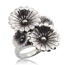 STERLING SILVER  THAI RING FLOWER 925  Size.US=10 UK=T
