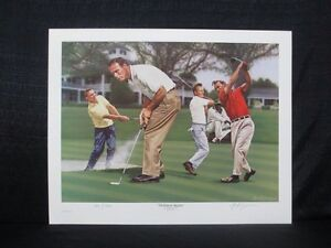 Masters Champion Arnold Palmer The King in Augusta Alan Zuniga Golf Lithograph