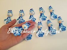 10 Baby Shower Blue Foam Baby Giraffes Party Decorations its a Boy Favors Prizes