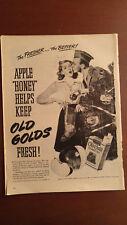 VTG 1944 Orig Magazine Ad Old Gold Cigarettes WW2 BW Christmas Tree Soldier Kiss