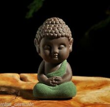 Chinese Yixing handmade zisha tea pet Meditating Buddha tea ceremony decoration