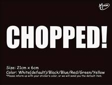 CHOPPED Car Sticker Reflective Funny Stickers Truck Window  Decal Best Gifts-