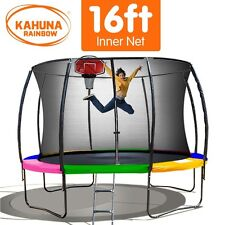 Kahuna 16 ft Trampoline with Rainbow Safety Pad