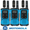 Motorola Talkabout T100TP Walkie Talkie 3 Pack Set 16 Mile Two Way Radios Blue