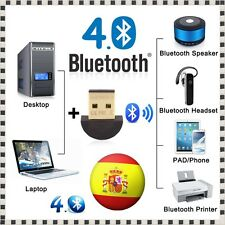 MINI MICRO ADAPTADOR INALAMBRICO USB BLUETOOTH CSR V4.0 3 Mbps DONGLE PC WINDOWS