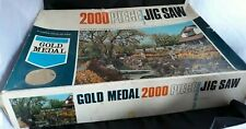 VINTAGE TOWER  PRESS GOLD 2000 PIECE JIGSAW PUZZLE COUNTRY GARDEN 120 x 75.5 cm