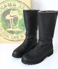 PANAMA JACK Stiefel Boots BAMBINA schwarz Leder Fell gefüttert Gr. 39 wie NEU