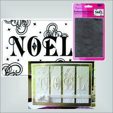 NOEL embossing folder Crafts Too embossing folders CTFD3019 Holidays,Christmas